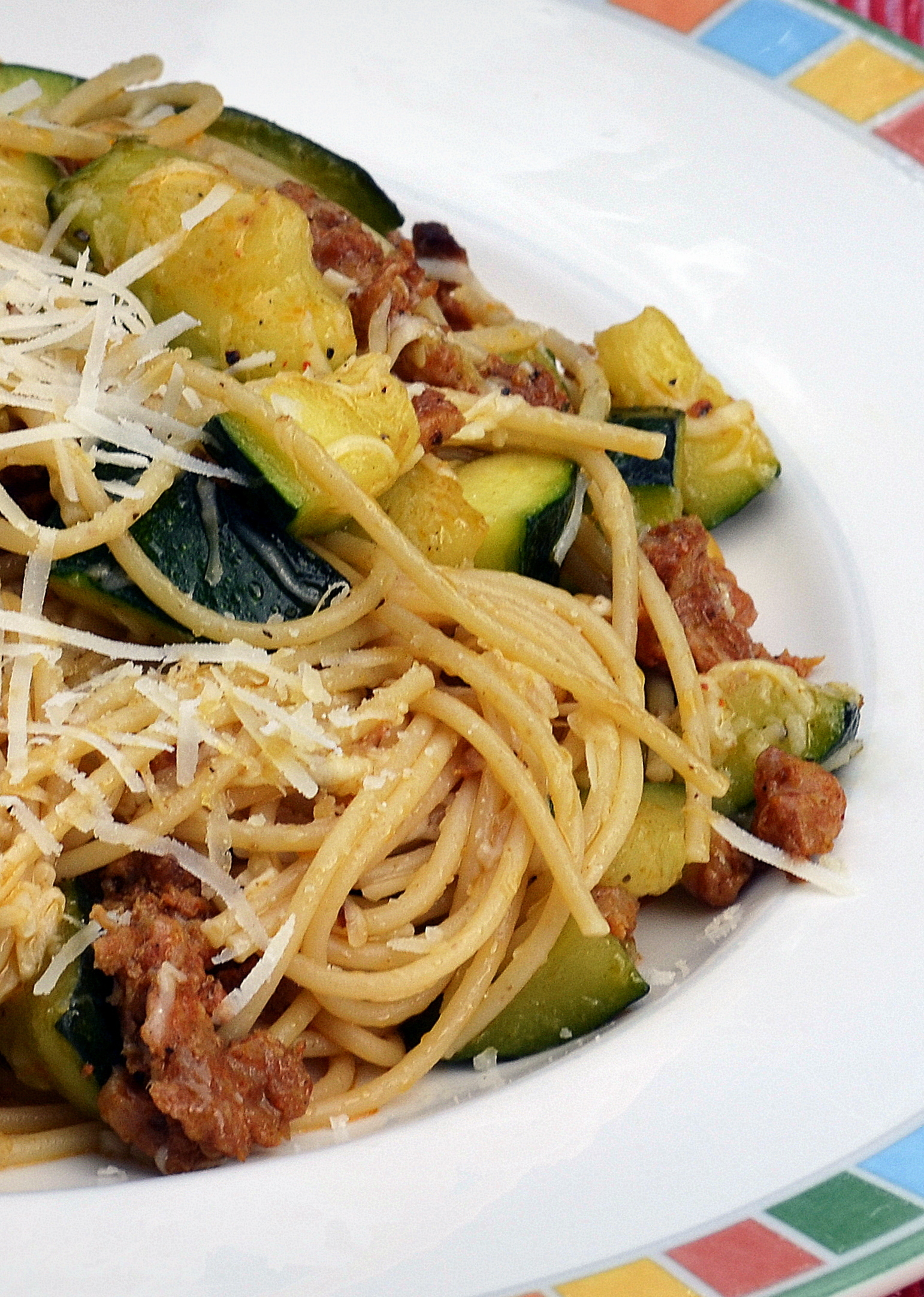 Spaghetti With Chorizo And Almonds Recipe — Dishmaps